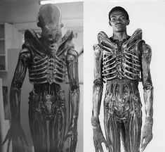 "Bolaji Badejo, the man inside the suit of the original 1979 Alien. He stands at 7' 2"", and was not originally an actor, but a design student who was discovered at a bar. Ridley Scott wanted someone unusually tall so as to make the suspension of disbelief more natural, and Badejo fit the bill. Of note, is that this role seems to have been Badejo's only real stint in the acting world, and there is little to no information about his life after Alien (save for rumor) to be found on the internet."