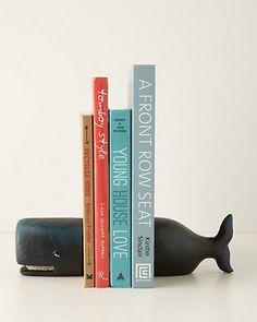 Beluga bookends are a fun way to dress up your bookshelves! Get them here: http://www.bhg.com/shop/anthropologie-beluga-bookends-p517b64f2e4b05de158df617c.html