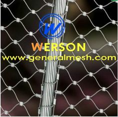 Ferrule mesh,zoo animal enclosure mesh ,flexible inox cable mesh ...