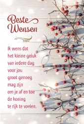 Nieuwjaarskaart Het kleine geluk van iedere dag DYN 17-305 Xmas Quotes, Best Quotes, Life Quotes, Merry Christmas And Happy New Year, Christmas Holidays, New Year Wishes, Jingle All The Way, Verse, E Cards
