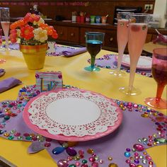 """We recreated the illustrations from """"Fancy Nancy Tea Parties""""."""