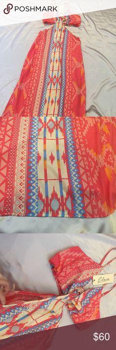 Spotted while shopping on Poshmark: NWT Elan Cut Out Maxi Dress Aztec Pattern! #poshmark #fashion #shopping #style #Elan #Dresses & Skirts