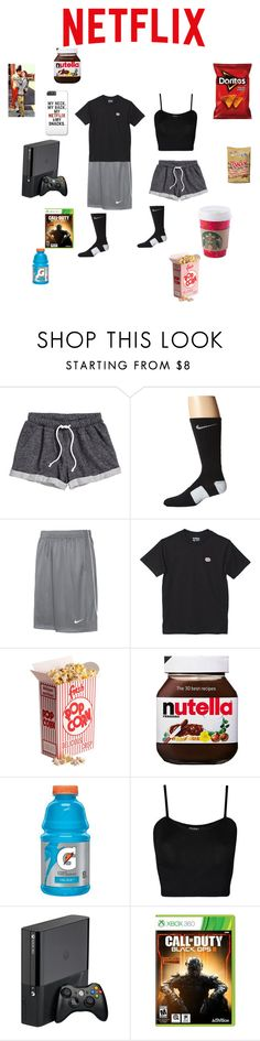 """Netflix date on Wednesday"" by winterismyname ❤ liked on Polyvore featuring H&M, NIKE, ODD FUTURE, ASOS and WearAll"
