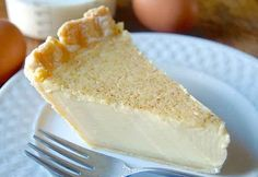 A rich/tender filling of cream, eggs, and vanilla, with a hint of nutmeg, nestled in a buttery crust.