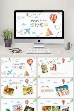 Watercolor my summer life electronic photo PPT template Powerpoint Slide Designs, Powerpoint Design Templates, Booklet Design, Ppt Template, Flyer Design, Design Design, Graphic Design, Design Presentation, Presentation Folder
