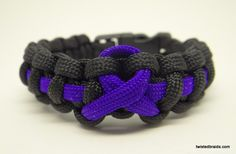 Support the Cause Bracelets / TWiSTED BRAiDS \ Paracord Bracelets - Necklaces - Wrist and Neck Lanyards
