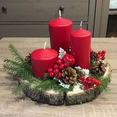 Centerpiece Christmas Rustic Simple Trend winter Simple And Popular Christmas Decorations Table Decorations Christmas Candles DIY Christmas Centerpiece Christmas Crafts Christmas Decor DIY Christmas Candle Decorations, Christmas Arrangements, Christmas Candles, Christmas Themes, Centerpiece Decorations, Xmas Table Decorations, Diy Candle Holders Christmas, Table Centerpieces For Christmas, Coffee Table Centerpieces