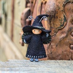 Witch Doll Bug Halloween Tiny Bendy by dreamalittle7 on Etsy