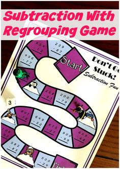 FREE No-Prep Subtraction with Regrouping Game