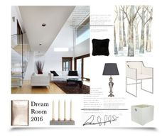 """Dream Room 2016 '"" by dianefantasy ❤ liked on Polyvore featuring interior, interiors, interior design, home, home decor, interior decorating, Worlds Away and Natural by Lifestyle Group"