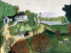 grandma moses paintings | anna mary robertson moses or grandma moses was an icon