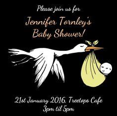 Baby Shower - Online Invitations from Envytations Free Baby Shower Invitations, Online Invitations, Baby Online, Stork, Babyshower, Baby Shower, Baby Showers, Baby Bird Shower