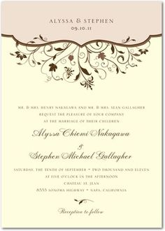 11 best official formal invites selection images on pinterest floral spring wedding invitations stopboris Image collections