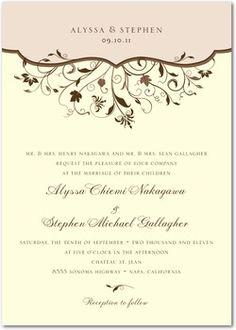 Fl Spring Wedding Invitations Whimsical Invitation