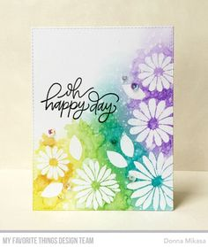 All Smiles Card Kit, Handwritten Happiness Stamp Set - Donna Mikasa  #mftstamps