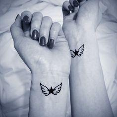 2pcs Angel's Wings star tattoo - InknArt Temporary Tattoo - wrist quote tattoo body sticker fake tattoo wedding tattoo small tattoo on Etsy, $3.99