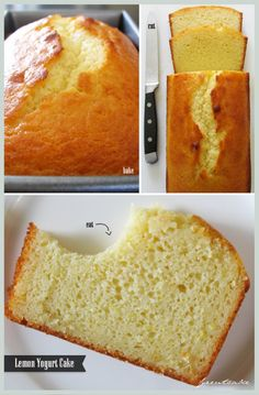 Lemon Yogurt Cake - great, moist cake. I added a little lemon juice to the batter to make it even lemonier.