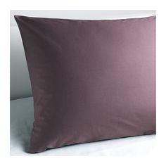 IKEA - GÄSPA, Funda para almohada, 65x65 cm, , La ropa de cama de satén de algodón es muy suave y agradable, y tiene un brillo que le da un aspecto muy bonito.La ropa de cama de algodón cepillado tiene una textura lisa y un tacto suave.