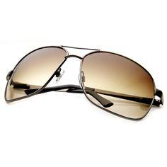 Premium Quality Metal Oversized Mirrored Lens Aviator Sunglasses