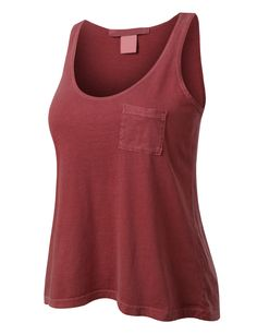 VOM PREMIUM Womens Basic Sleeveless Loose Fit Muscle Tank Top