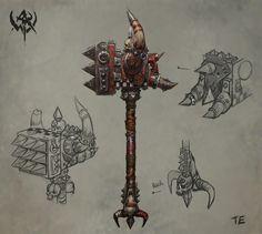 ArtStation - Warhammer Online(2009), ji zhang Warhammer Online, Fb Games, Weapon Concept Art, Dark Elf, Game Item, Warhammer Fantasy, Reference Images, Elves, Cool Art
