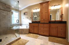 Remodeled Master Bathrooms Ideas With Floor Tiles