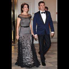 La princesse Mary et le prince Frederik de Danemark au château de Christiansborg à Copenhague, le 15 mars 2016