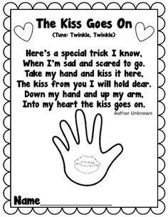 picture regarding Kissing Hand Printable titled Kissing Hand Ebook Guidelines Printables