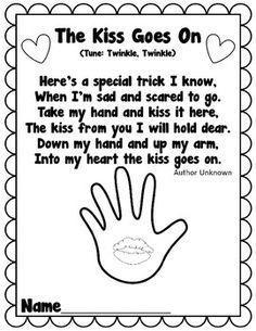 photograph regarding Kissing Hand Printable named Kissing Hand E book Guidelines Printables