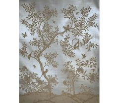 "SY-206Handpainted Chinese scenic panel created in the same manner as those produced in the 18th and 19th centuries.  Two panels shown.SIZE: Each Panel is 3' Wide x 10' High, Design height 7'6"" PRICE PER PANEL: $1,440"