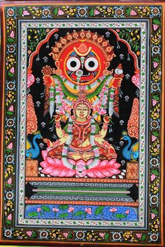 Pattachitra painting of Goddes Lakshmi with Lord Jagannath Buy Paintings Online, Online Painting, Silk Painting, Artist Painting, Indian Art Paintings, Original Paintings, Lord Jagannath, Indian Arts And Crafts, Ganesha Painting