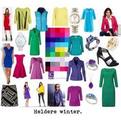 Het heldere wintertype/ clear winter. Kleurenanalyse/ seasonal color analysis.