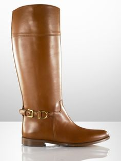 brown riding boots.