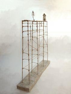 Antoine Jossé 1970 ~ Surrealist sculptor and painter Tattoos Mandala, Tattoos Geometric, Game Design, 3d Studio, Plastic Art, Steel Sculpture, Ceramic Houses, Art Abstrait, Wire Art