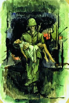 """""""Leyte"""" by Paul Sample. From """"They Drew Fire: Combat Artists of World War II."""""""