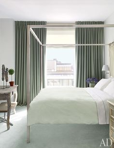 Room & Board Bed.  A Serene Manhattan Apartment by Vicente Wolf : Interiors + Inspiration : Architectural Digest