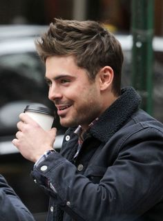 """Zac Efron on set of """"Are We Officially Dating?"""" in NYC on December 20, 2012"""