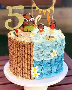 Moana Theme Cake, Moana Birthday Party Theme, 13 Birthday Cake, Moana Birthday Cakes, Moana Cake Ideas, Moana Party, Birthday Ideas, Happy Birthday, Moana Cake Design
