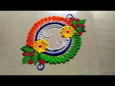 Independence day rangoli designs with tricolor by jyoti Rathod Easy Rangoli Designs Videos, Rangoli Designs Latest, Rangoli Designs Flower, Small Rangoli Design, Colorful Rangoli Designs, Rangoli Designs Diwali, Rangoli Designs Images, Diwali Rangoli, Flower Rangoli