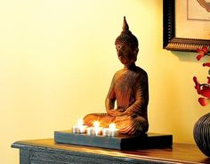 Feng Shui Home: the Many Faces of Buddha: Buddha Candle Holder