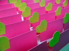 Lime green & hot pink wedding favor boxes. | Handmade Wedding ...