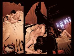 """katefatale: """"Talia x Bruce scans from Arkham Unhinged #39 Semi NSFW? """""""