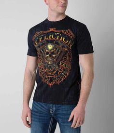 4f0b92f78 Affliction American Customs Thunder T-Shirt - Men's T-Shirts in Black |  Buckle