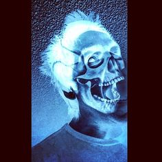 Ghost in the Machine Pt. 3  #art #skull #ghost #machine #animal #skeleton #horror #death #instashare #smile