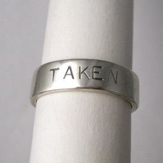 engagement ring ,sterling silver ring, mens ring, womens ring, wedding bands, taken made to your size. $65.00, via Etsy.