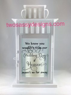 Memory Lantern Wedding Lantern Memory Table by TwoSassyDesigns