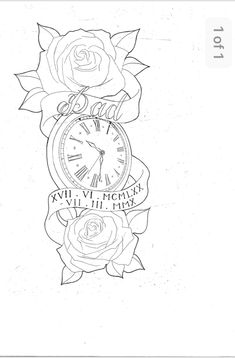 Evil Tattoos, Dad Tattoos, Girly Tattoos, Family Tattoos, Clock Tattoo Design, Tattoo Design Drawings, Tattoo Sleeve Designs, Tattoo Sketches, Outline Art