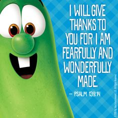 God made each one of us special! We all have talents and gifts to give. How will you use your special talents that God blessed you with to glorify Him? #VeggieTales