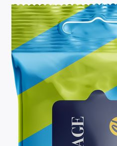 Metallic Wet Wipes Pack Mockup - Front View