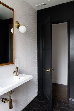 smitten-studio-online-BATHROOM-PROGRESS the new black with white herringbone tile